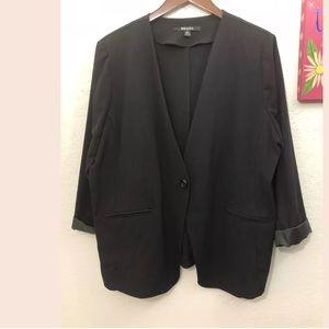 Briggs 3/4 Sleeve Blazer Plus Size 2X
